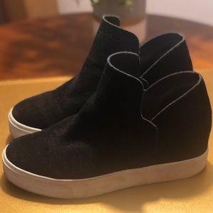 Steve Madden Wrangle Sneakers Black Suede